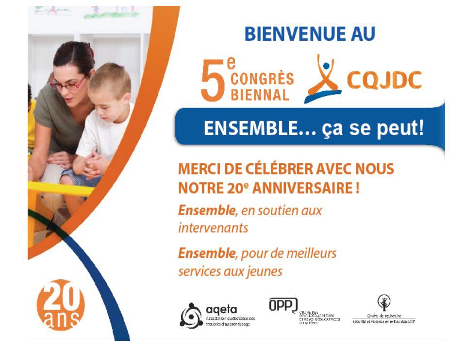 Conférence « Je suis capable » Méthode de résolution de problèmes Lucile Bouchard et Edith Moreau Congrès CQJDC 23 avril 2014