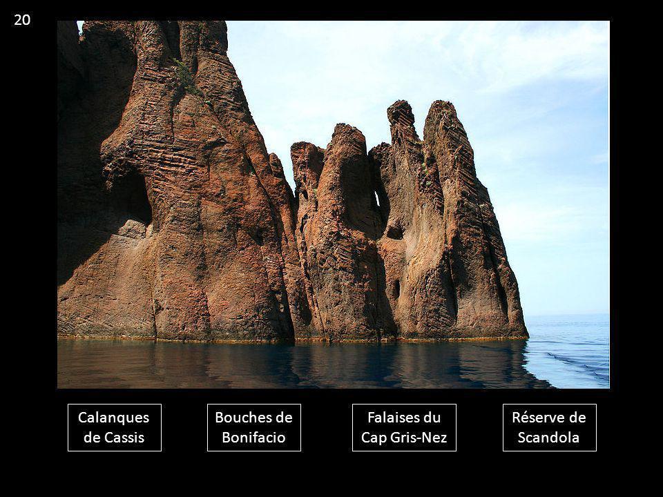 Calanques de Cassis Bouches de Bonifacio Falaises du Cap Gris-Nez Réserve de Scandola 20
