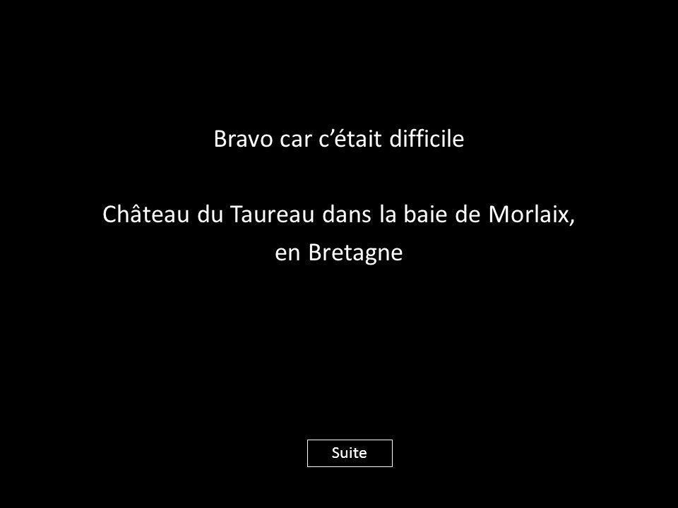 Bravo car c'était difficile Château du Taureau dans la baie de Morlaix, en Bretagne Suite