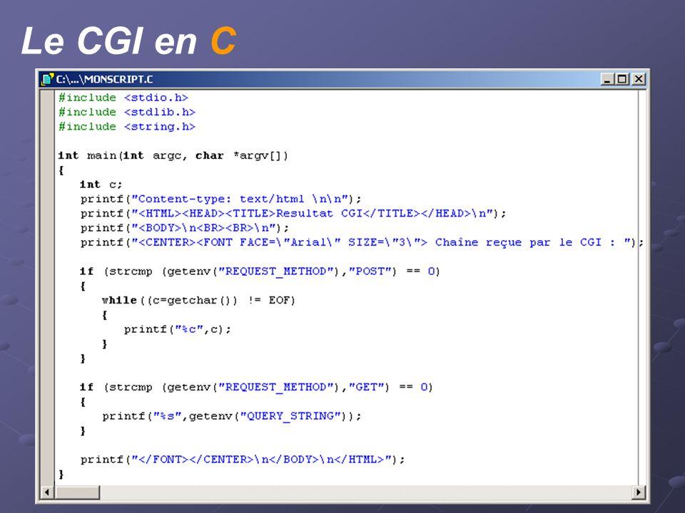 Le CGI en C