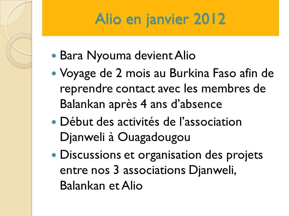Alio en janvier 2012 Bara Nyouma devient Alio Voyage de 2 mois au Burkina Faso afin de reprendre contact avec les membres de Balankan après 4 ans d'ab