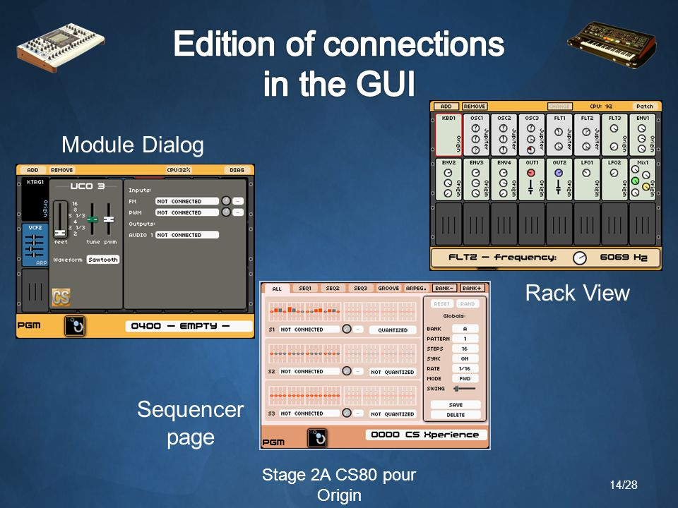 Stage 2A CS80 pour Origin Rack View Sequencer page Module Dialog 14/28
