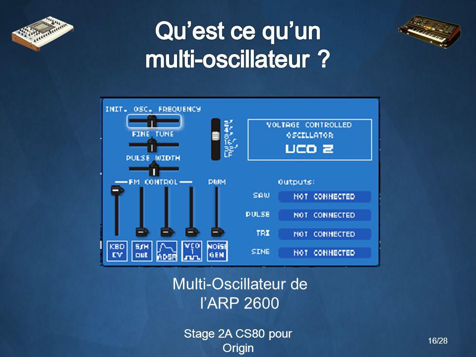 Stage 2A CS80 pour Origin Multi-Oscillateur de l'ARP 2600 16/28