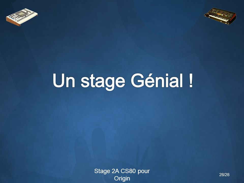 28/28 Stage 2A CS80 pour Origin