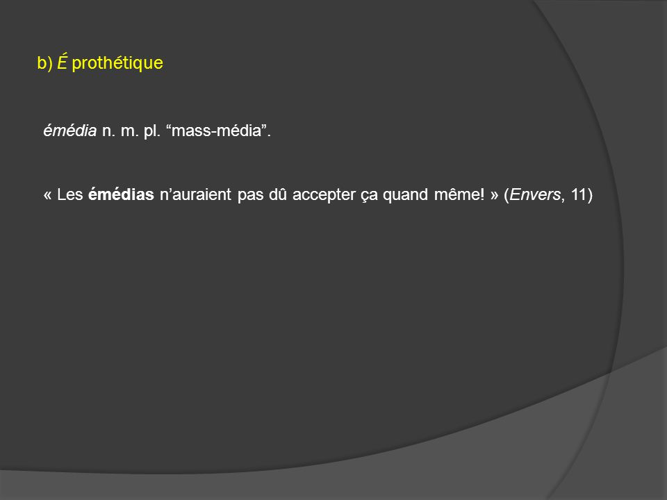 Conversion.Vb. / Loc. > N.  comprendre n. m. compréhension (Envers, 53) Adj.