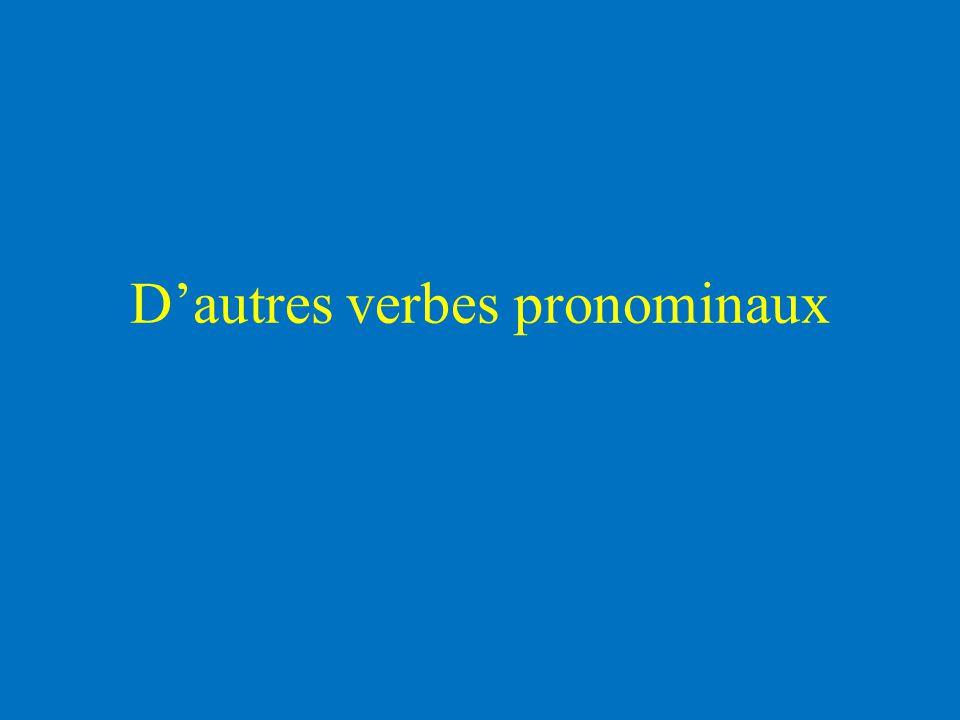 D'autres verbes pronominaux