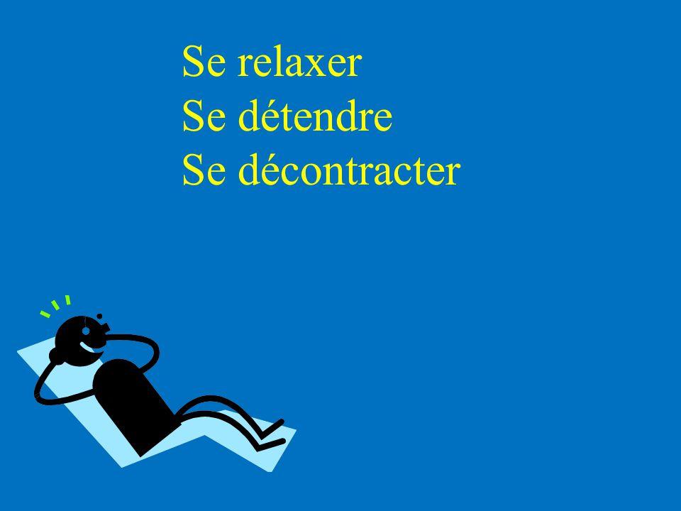 Se relaxer Se détendre Se décontracter