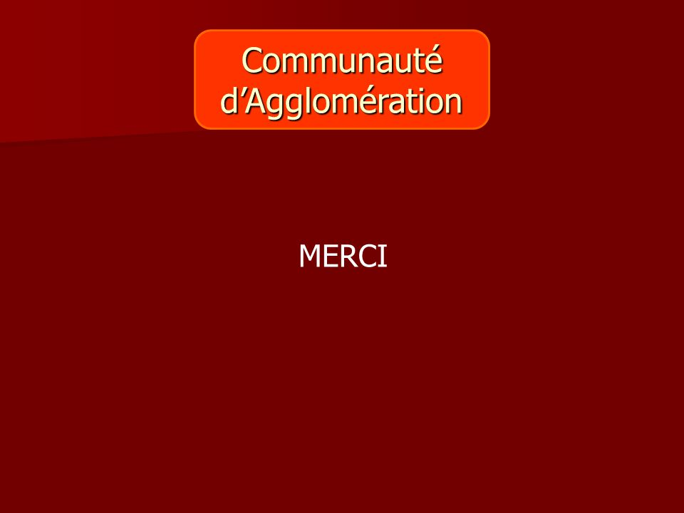 Communautéd'Agglomération MERCI