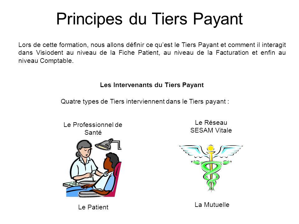 Lors de cette formation, nous allons définir ce qu'est le Tiers Payant et comment il interagit dans Visiodent au niveau de la Fiche Patient, au niveau