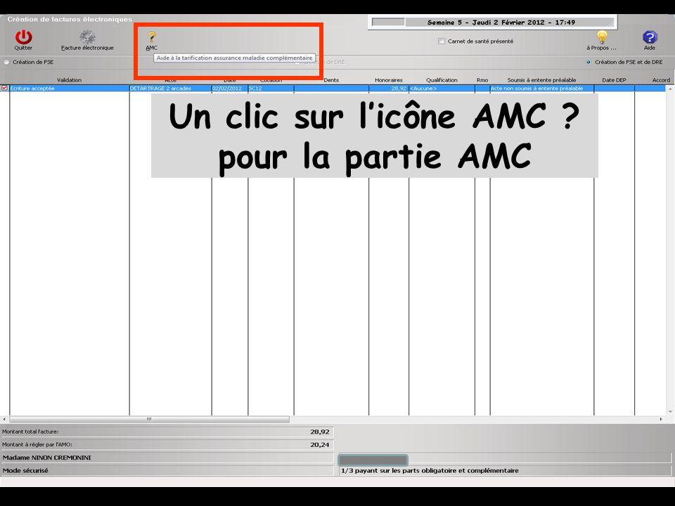Un clic sur l'icône AMC ? pour la partie AMC
