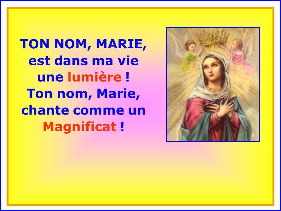 ..Bénie sois-tu, Marie, pleine de grâce, le Seigneur est avec nous.