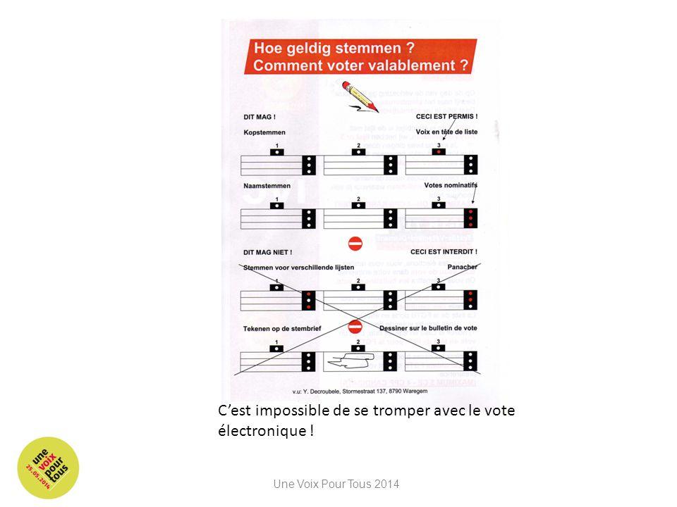 C'est impossible de se tromper avec le vote électronique ! Une Voix Pour Tous 2014