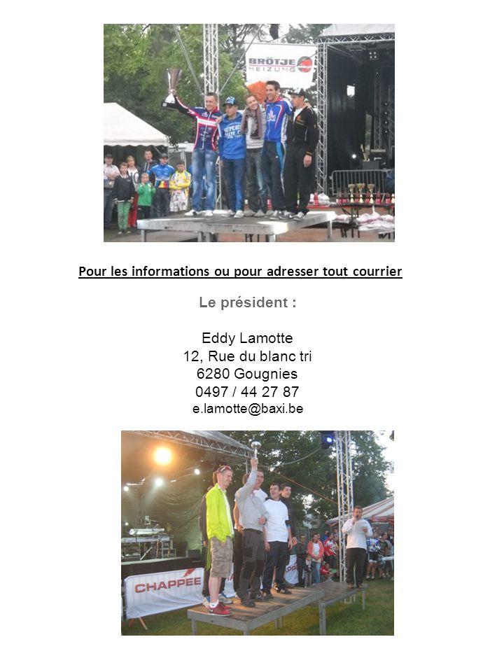 Les 6H00' VTT de Gougnies, c'est: … Un animateur professionnelDe nombreux bénévoles Un large public Un village des sports Un départ impressionnant Monté pour 1 jour !!!!