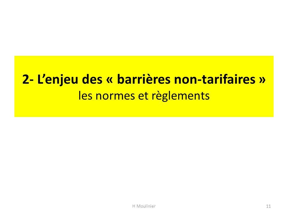 2- L'enjeu des « barrières non-tarifaires » les normes et règlements H Moulinier11