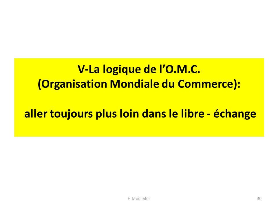 V-La logique de l'O.M.C.