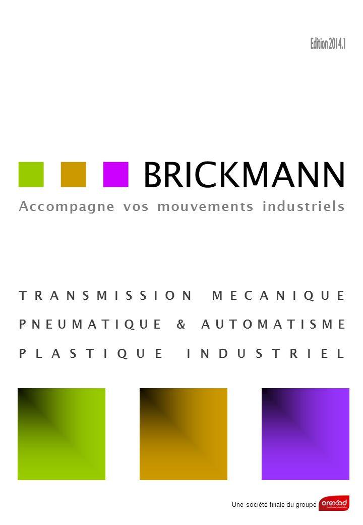 BRICKMANN Accompagne vos mouvements industriels TRANSMISSION MECANIQUE PNEUMATIQUE & AUTOMATISME PLASTIQUE INDUSTRIEL Une société filiale du groupe