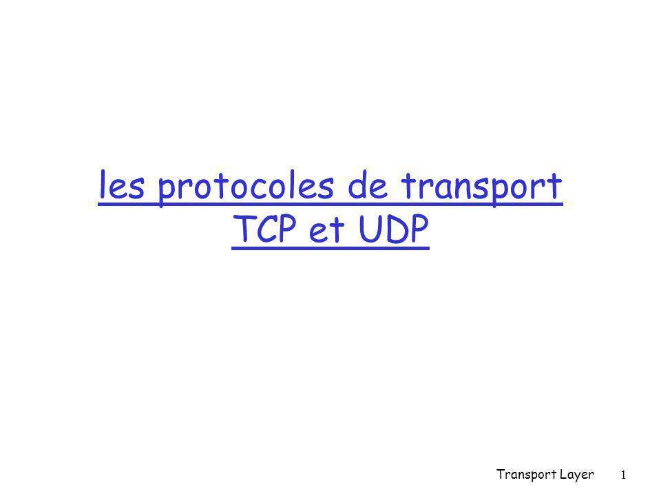 Transport Layer1 les protocoles de transport TCP et UDP