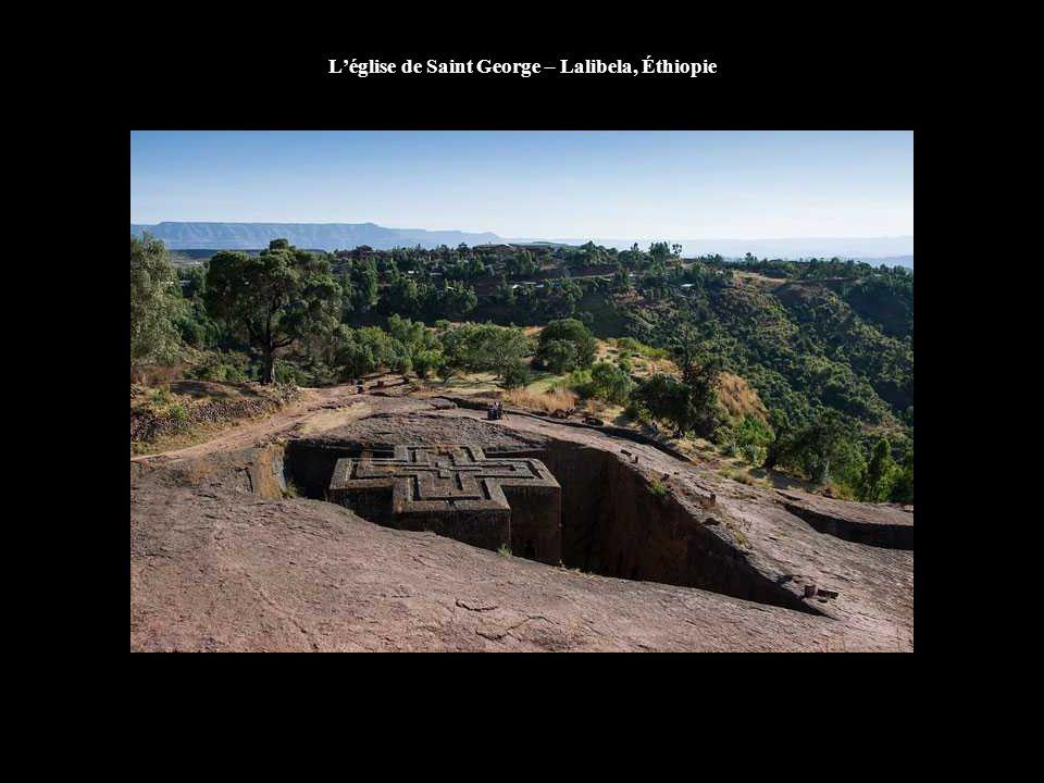 L'église de Saint George – Lalibela, Éthiopie