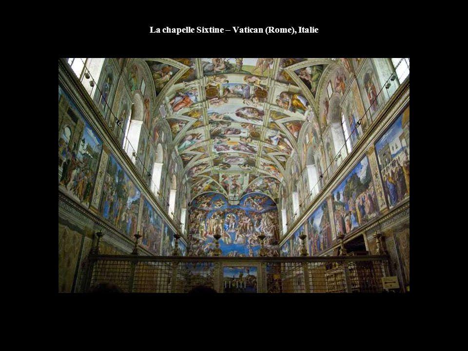 La chapelle Sixtine – Vatican (Rome), Italie