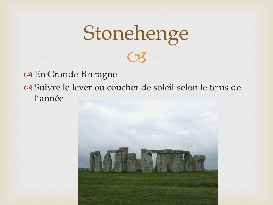  En Grande-Bretagne  Suivre le lever ou coucher de soleil selon le tems de l'année Stonehenge