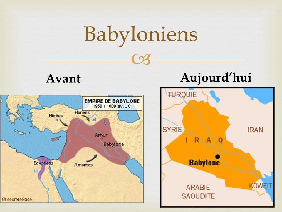  Babyloniens Avant Aujourd'hui