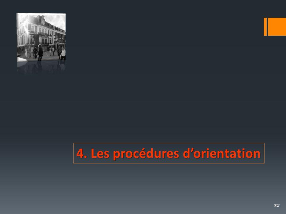 4. Les procédures d'orientation BW