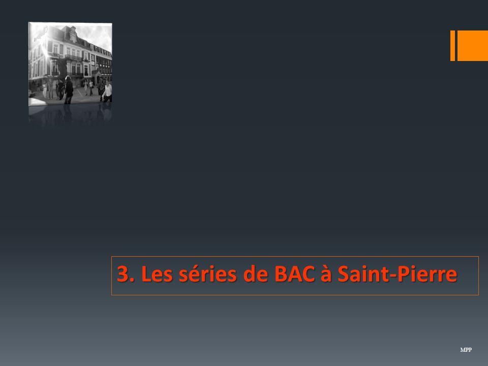 3. Les séries de BAC à Saint-Pierre MPP
