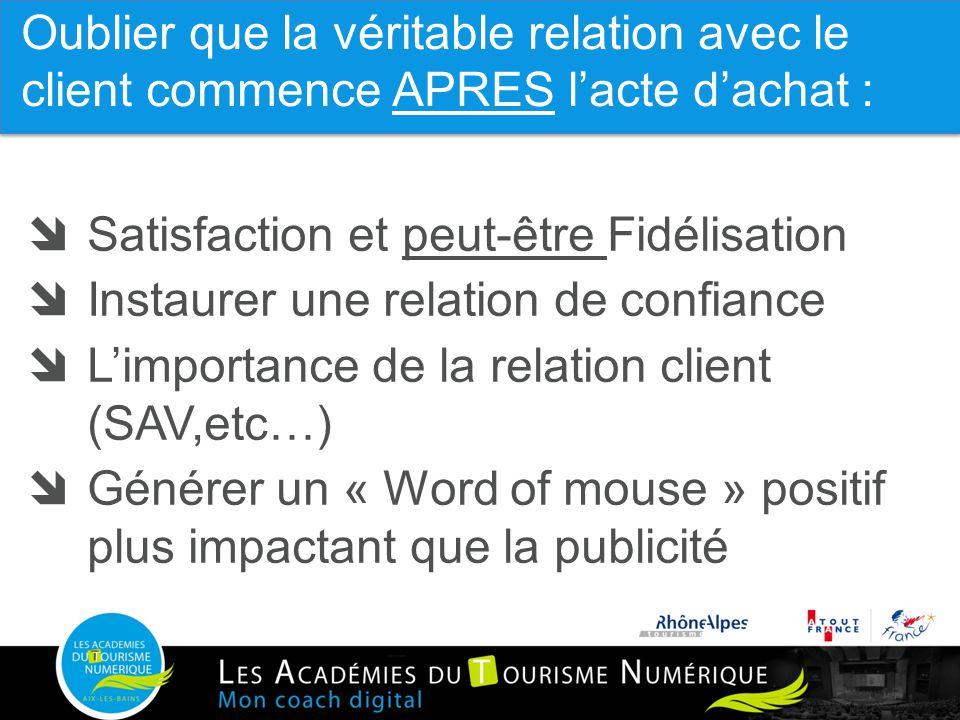 10  Satisfaction et peut-être Fidélisation  Instaurer une relation de confiance  L'importance de la relation client (SAV,etc…)  Générer un « Word