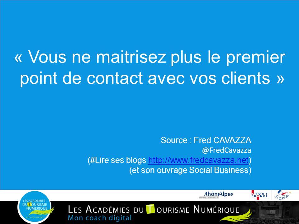 « Vous ne maitrisez plus le premier point de contact avec vos clients » Source : Fred CAVAZZA @FredCavazza (#Lire ses blogs http://www.fredcavazza.net