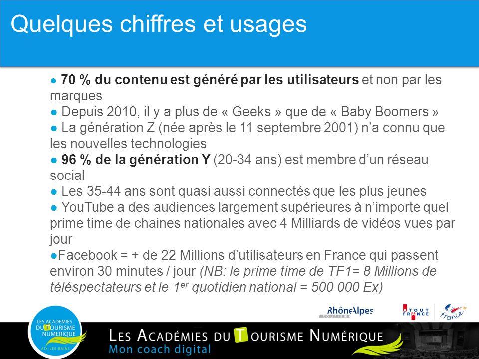 45 ● 70 % du contenu est généré par les utilisateurs et non par les marques ● Depuis 2010, il y a plus de « Geeks » que de « Baby Boomers » ● La génér