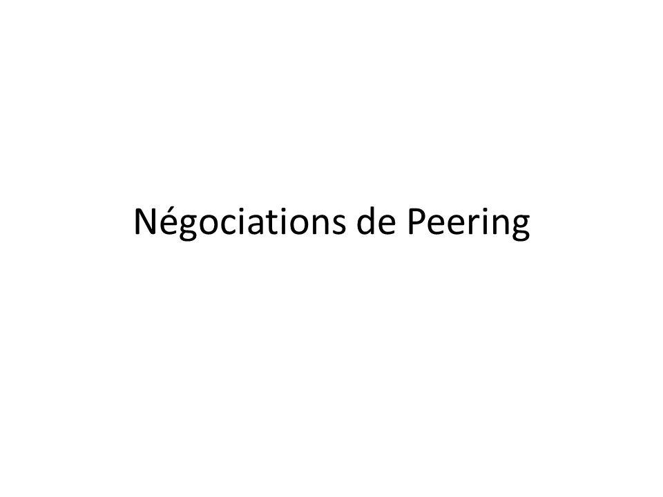 Négociations de Peering
