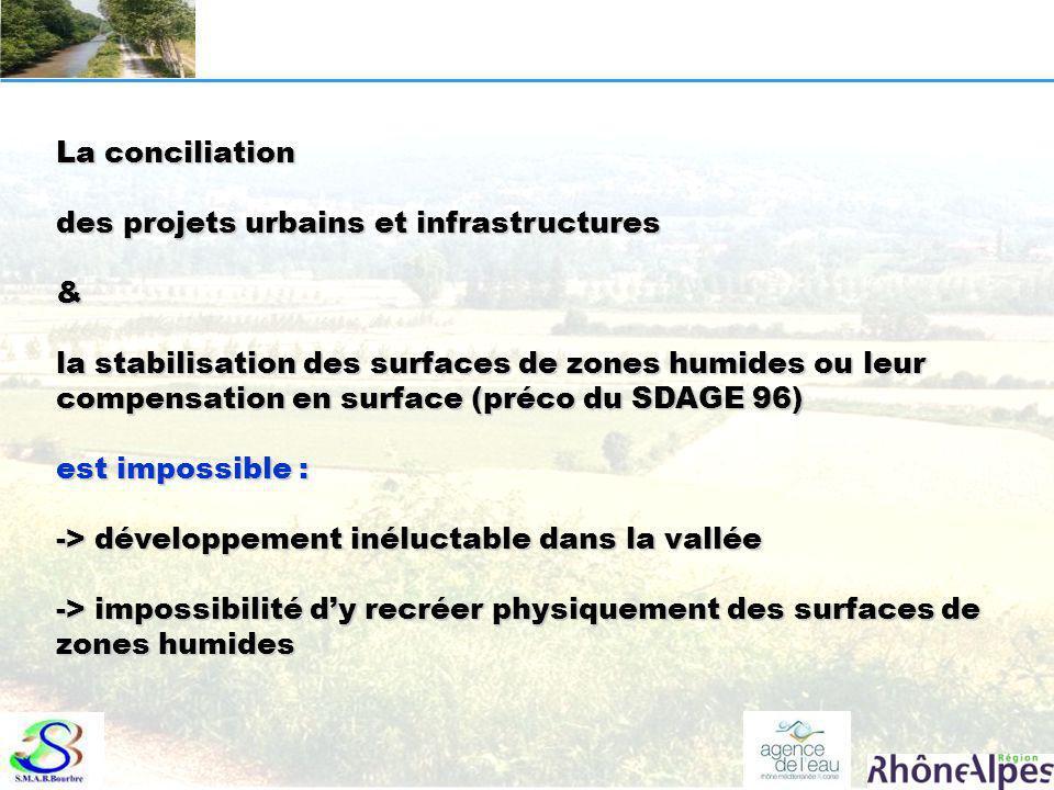 La conciliation des projets urbains et infrastructures & la stabilisation des surfaces de zones humides ou leur compensation en surface (préco du SDAG