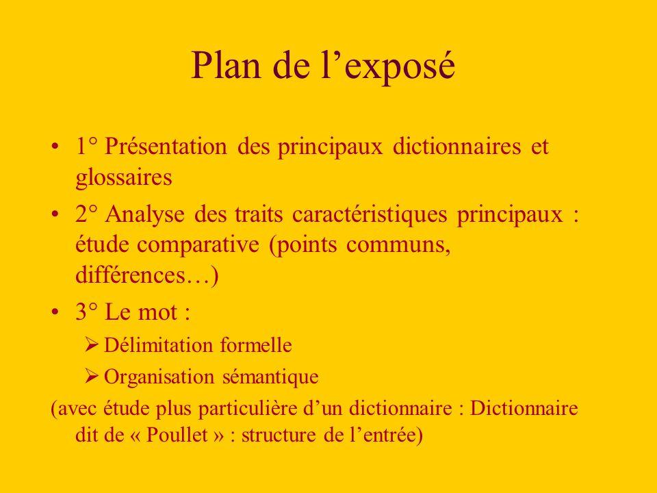 3° Le mot : quelques problèmes de délimitation / définition.