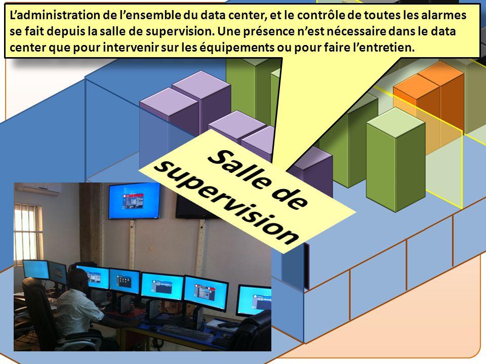PESI MEF – DATA CENTER L'administration de l'ensemble du data center, et le contrôle de toutes les alarmes se fait depuis la salle de supervision. Une