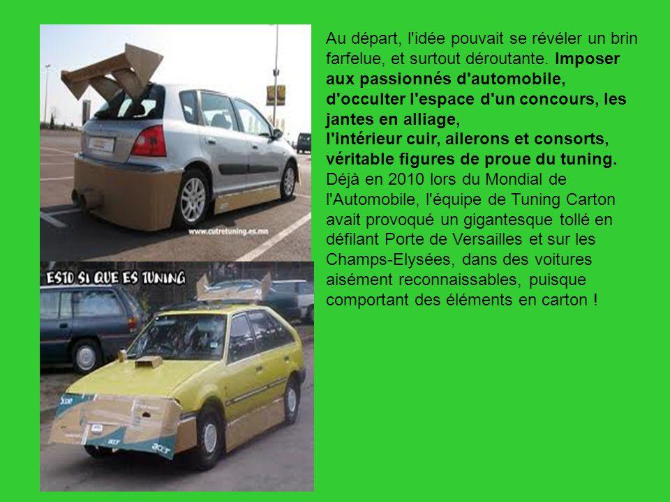 Avec sa démarche pour le moins originale, le site Yakarouler.com a suscité une nouvelle vocation : personnaliser son bolide avec du carton .