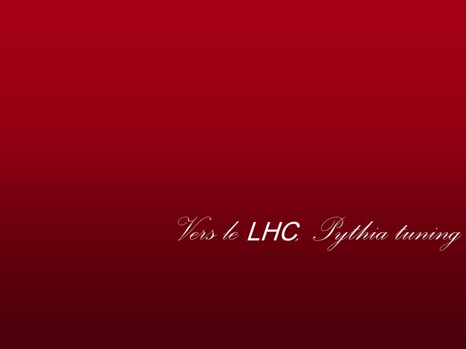 Hélène Ricaud - Journées QGP France, Etretat jullet 2006 23 Vers le LHC, Pythia tuning