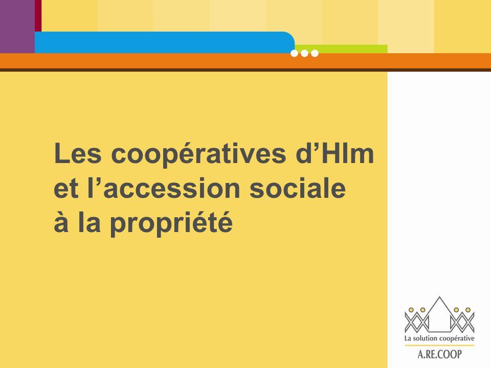 Les coopératives d'Hlm et l'accession sociale à la propriété