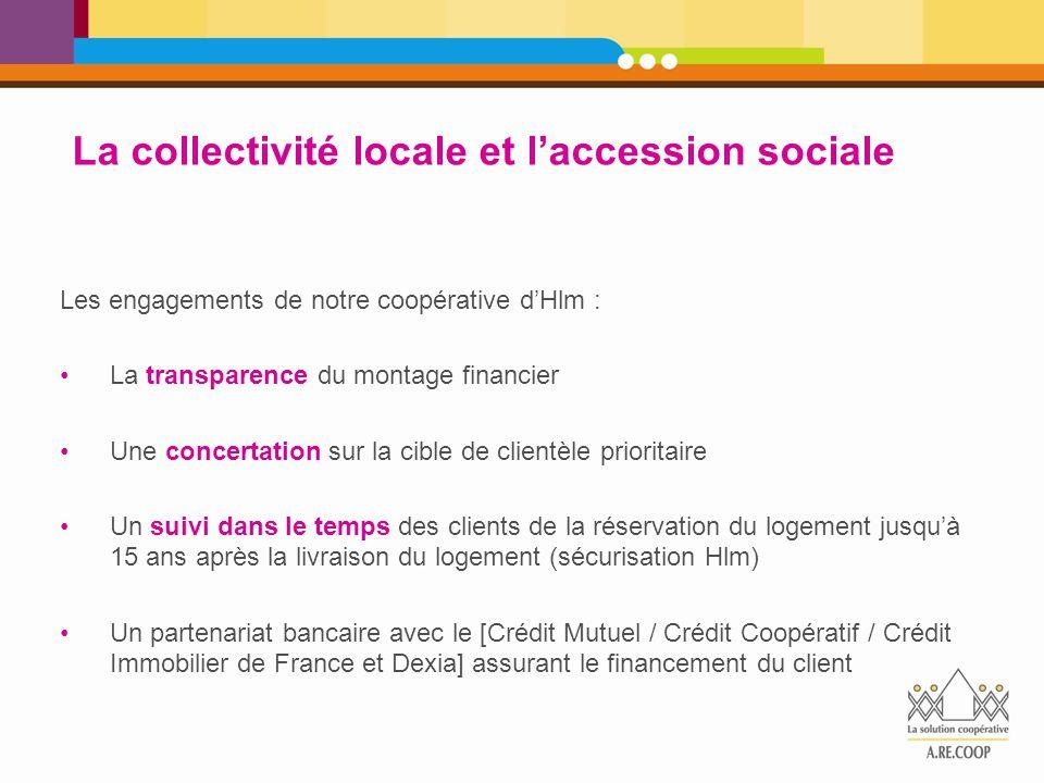 Les engagements de notre coopérative d'Hlm : La transparence du montage financier Une concertation sur la cible de clientèle prioritaire Un suivi dans