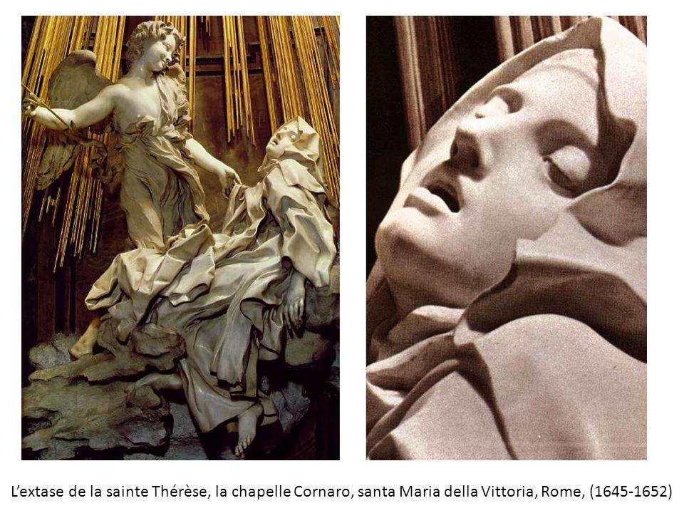 L'extase de la sainte Thérèse, la chapelle Cornaro, santa Maria della Vittoria, Rome, (1645-1652)