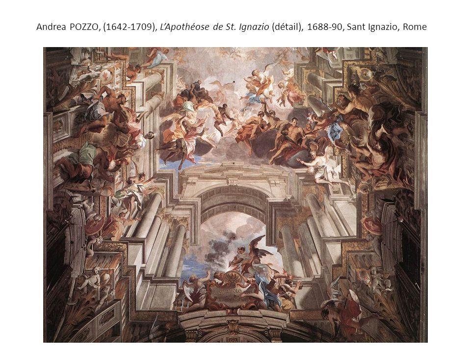 Andrea POZZO, (1642-1709), L'Apothéose de St. Ignazio (détail), 1688-90, Sant Ignazio, Rome