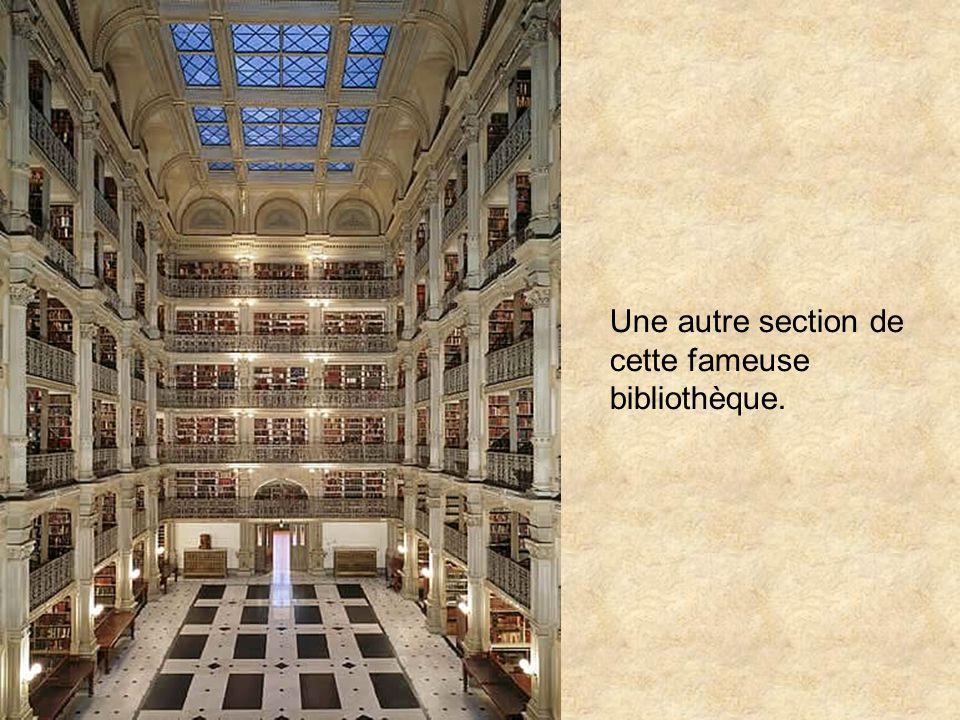 Une autre section de cette fameuse bibliothèque.