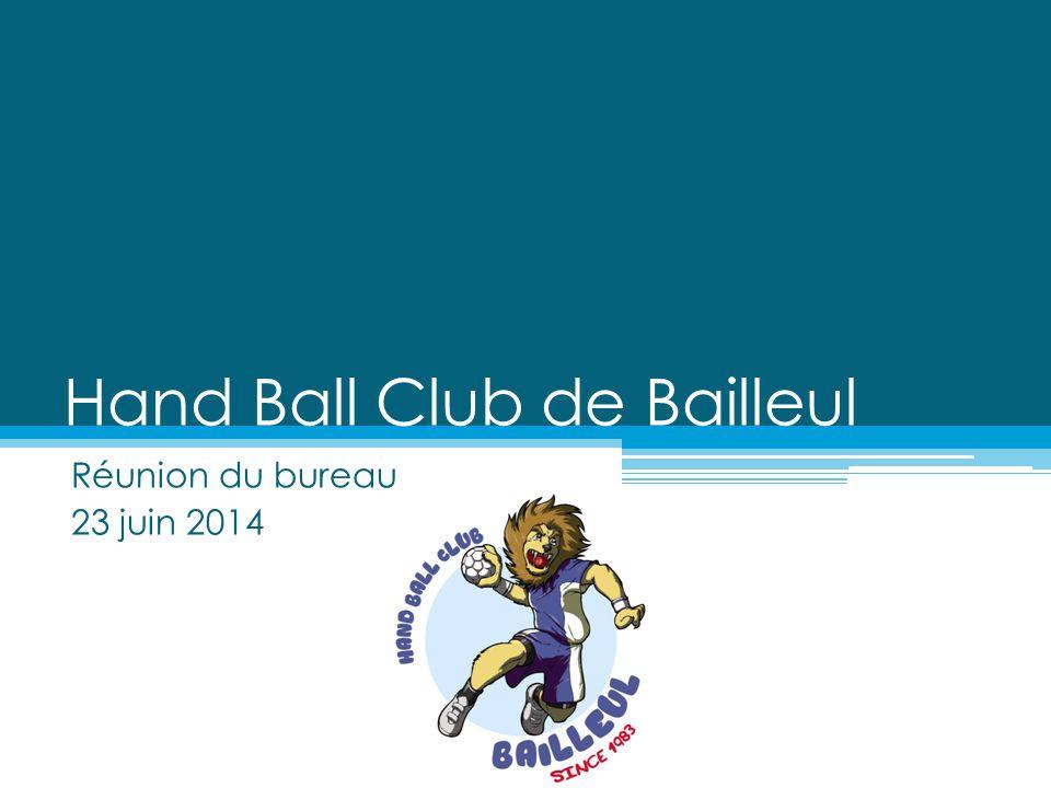 Hand Ball Club de Bailleul Réunion du bureau 23 juin 2014