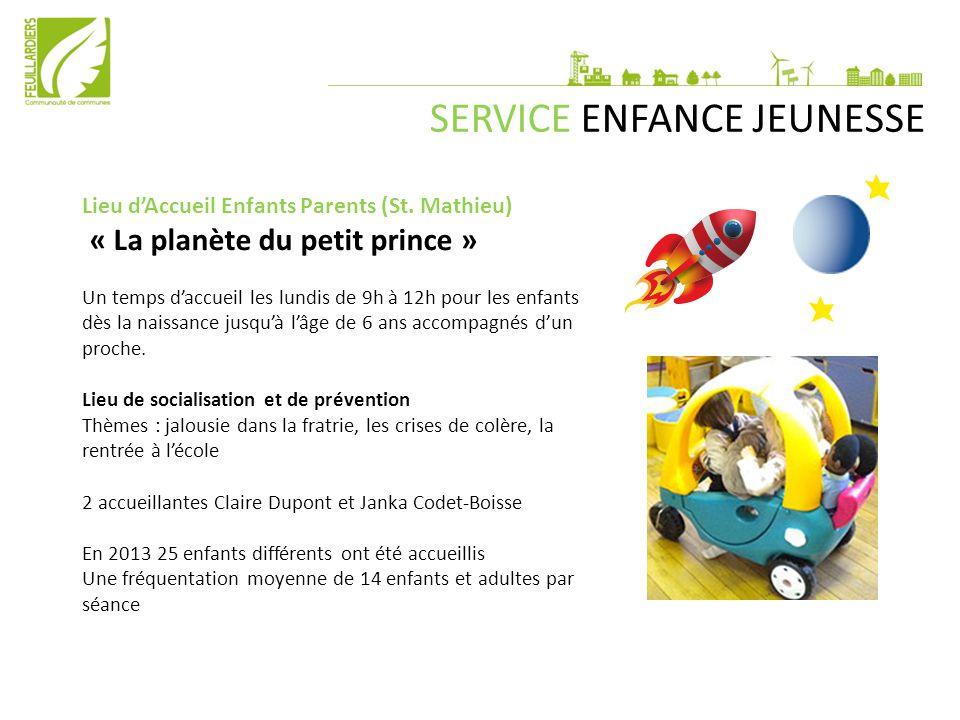 SERVICE ENFANCE JEUNESSE Lieu d'Accueil Enfants Parents (St. Mathieu) « La planète du petit prince » Un temps d'accueil les lundis de 9h à 12h pour le