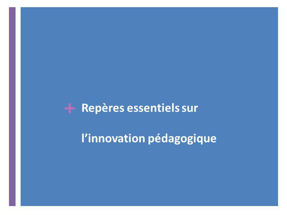 + Repères essentiels sur l'innovation pédagogique