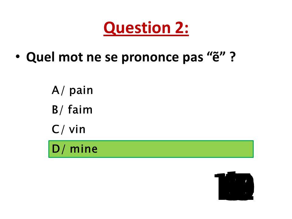 Question 1: ……. hôtel est magnifique A/ Ce B/ Cet C/ Cette D/ Ces 15 141312111098765 4 32 1