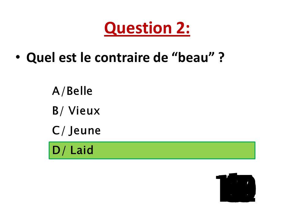 Question 1:  Vous avez bien ………. un morceau de musique de Mozart. A/jouez B/ jouer C/ joué D/ jouet 15 141312111098765 4 32 1