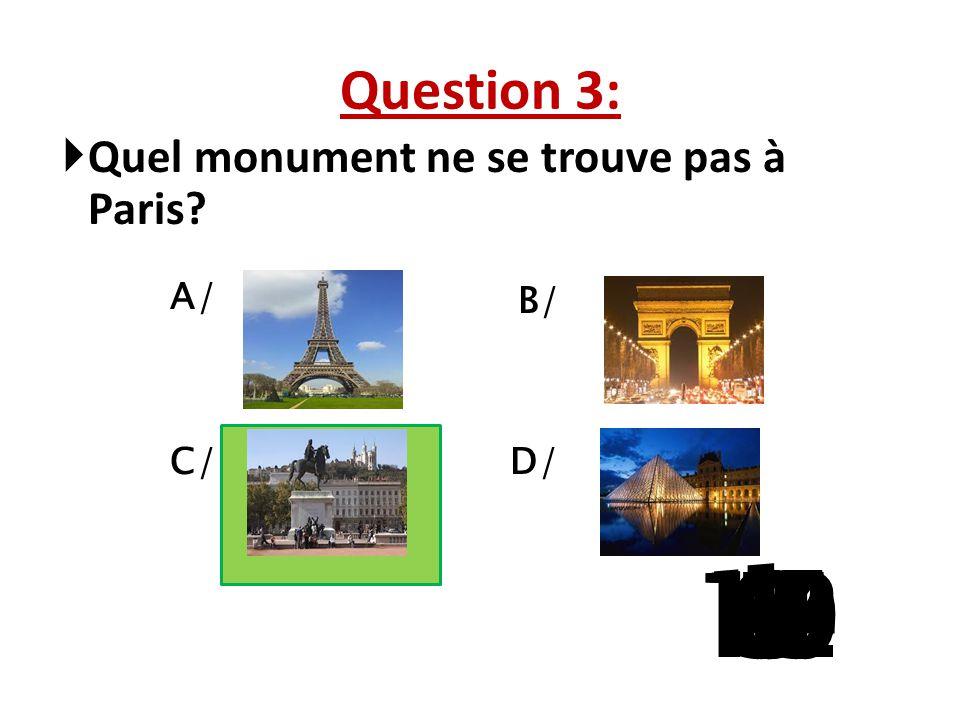 Question 2:  Mon frère porte une cravate ………. A/ Vert B/ Bleu C/ noir D/ rouge 15 141312111098765 4 32 1
