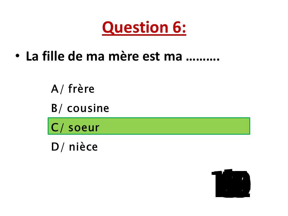 Question 5:  Qu'est-ce qu'on peut jeter dans cette poubelle ? A/ B/ C/ D/ 15 141312111098765 4 32 1
