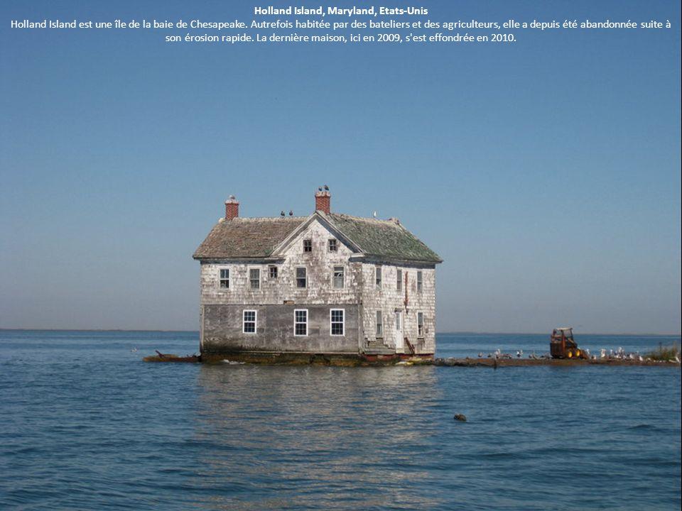 Holland Island, Maryland, Etats-Unis Holland Island est une île de la baie de Chesapeake. Autrefois habitée par des bateliers et des agriculteurs, ell