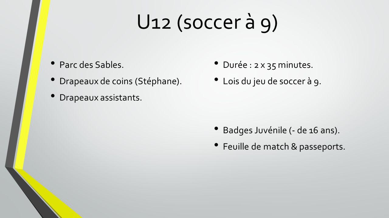U12 (soccer à 9) Parc des Sables.Drapeaux de coins (Stéphane).
